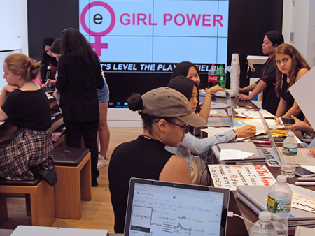 group projects at eGirl Power's Womens Movement Workshop